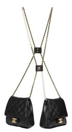 double bag chanel