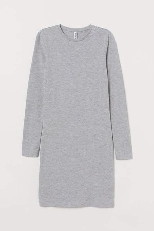 Fitted Dress - Gray