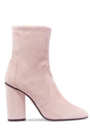 Stuart Weitzman Margot suede sock boots