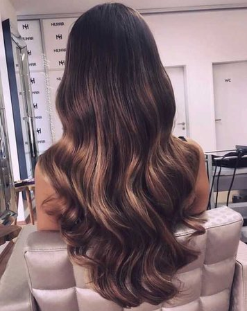 Wavey Brown Hair with Highlights Blonde
