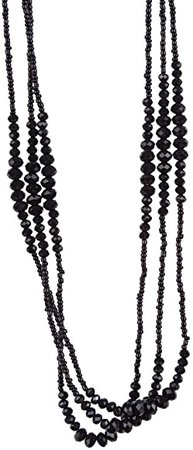 Amazon.com: Vintage Midnight Black Sparkly Beaded Necklace Jewelry (Very Long - 37 Inches): Chain Necklaces: Jewelry