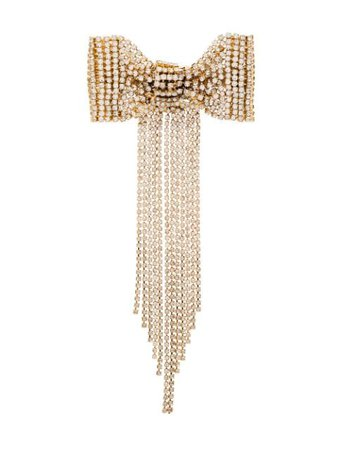 Shop gold Rosantica crystal bow hair clip with Express Delivery - Farfetch