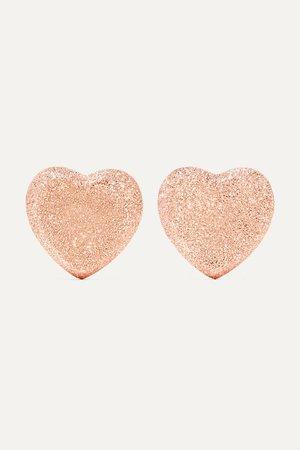 Rose gold Heart Button 18-karat rose gold earrings | Carolina Bucci | NET-A-PORTER
