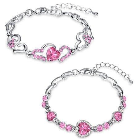 Lovely Pink Heart Bracelets