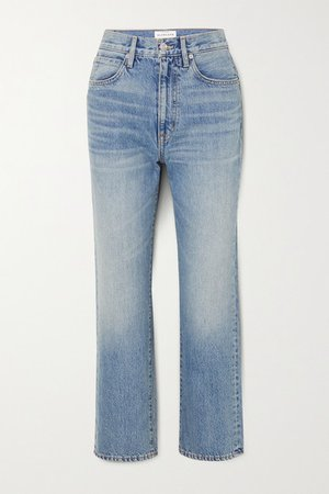 London Cropped High-rise Straight-leg Jeans - Light denim