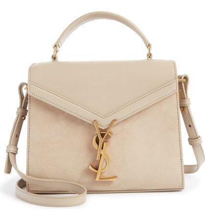 Saint Laurent Mini Cassandra Calfskin Top Handle Bag | Nordstrom