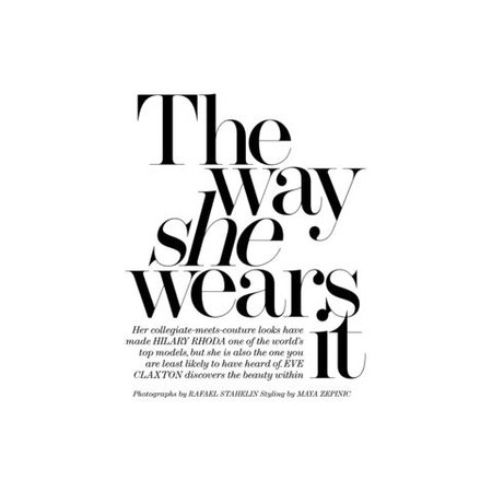 The way she wears it text