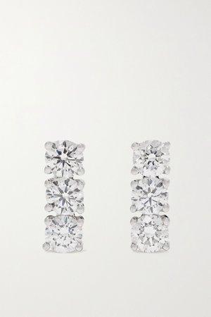 White gold 18-karat white gold diamond earrings | Anita Ko | NET-A-PORTER