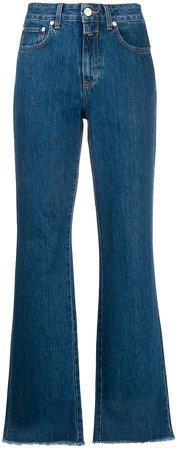 Leaf flared jeans