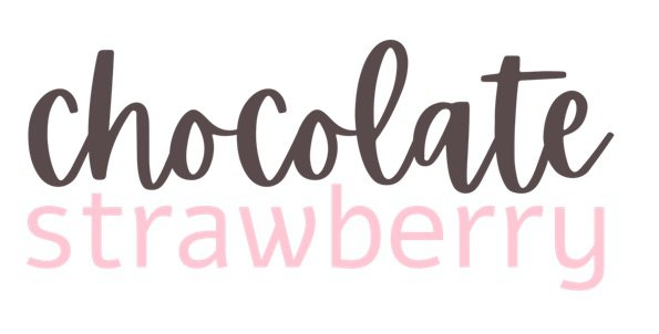 chocolate strawberry text