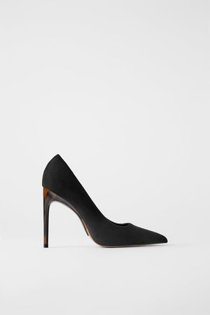 TORTOISESHELL HIGH HEEL SHOES | ZARA United States black