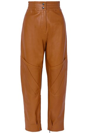 Acne Studios | Louiza leather tapered pants | NET-A-PORTER.COM