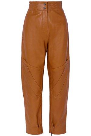 Acne Studios | Louiza leather tapered pants | NET-A-PORTER.COM