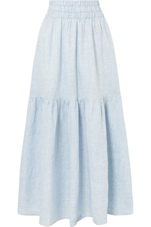 Mara Hoffman   Carmen tiered striped hemp maxi skirt   NET-A-PORTER.COM