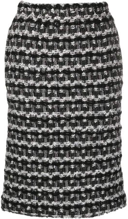 tweed knit pencil skirt
