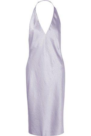 T by Alexander Wang   Crinkled-satin halterneck dress   NET-A-PORTER.COM