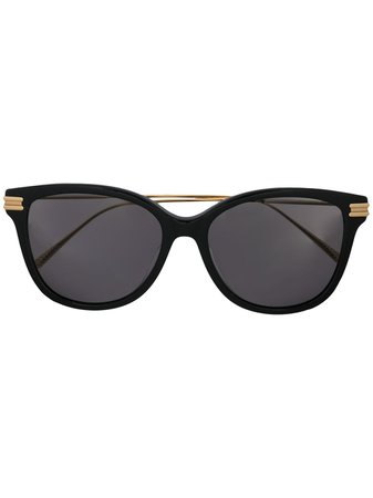 Bottega Veneta Eyewear ribbon detail square-frame sunglasses