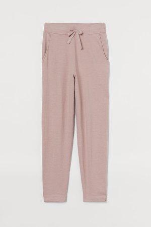 Fine-knit Joggers - Pink