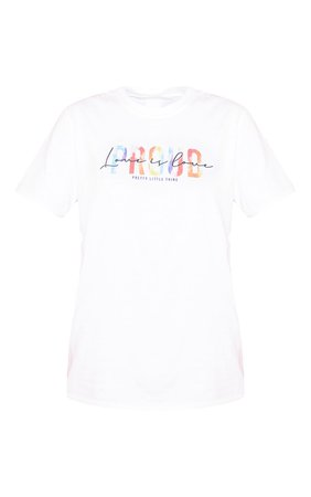 White Love Is Love T Shirt | PrettyLittleThing USA