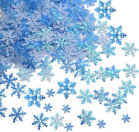 750 pcs Snowflakes Confetti for Christmas Wonderland Winter Frozen Party Blue Color with Iridescent Finish: Amazon.co.uk: Health & Personal Care
