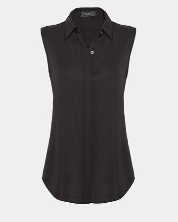 Silk Sleeveless Shirt