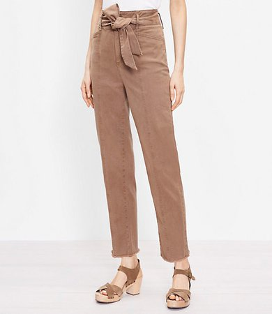The Tie Waist Tapered Pant