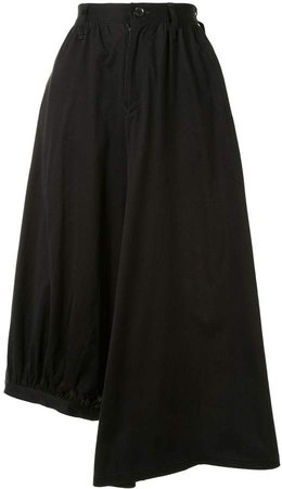 Oriental Print Asymmetric Skirt