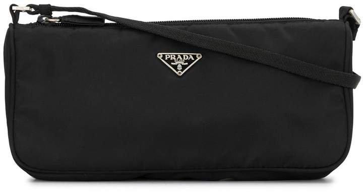 Pre-Owned triangular logo shoulder bag