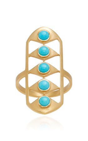 Doryn Wallach Sleeping Beauty Turquoise Gladiator Ring Size: 6.25