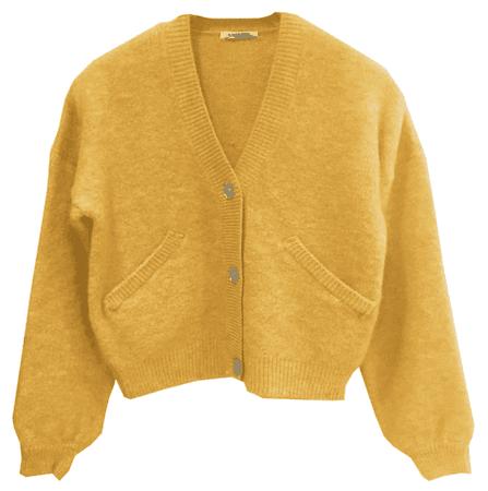 SHORT CARDIGAN Yellow – Ragdoll LA