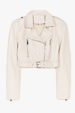 Part Time Rocker Cropped Faux Leather Jacket | Nasty Gal