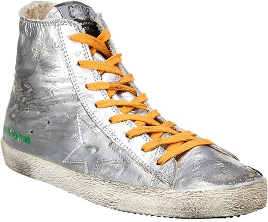 High Top Leather Sneaker