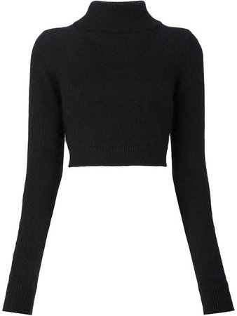 Balmain Cropped Turtleneck Sweater - Farfetch