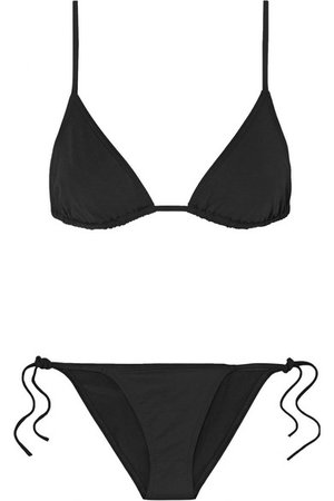 Les Essentiels Mouna triangle bikini top and briefs black