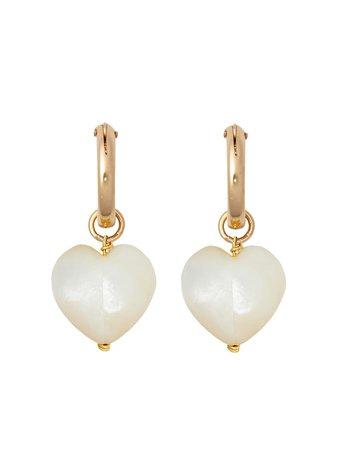 Brinker & Eliza Ever After Heart Earrings - Farfetch