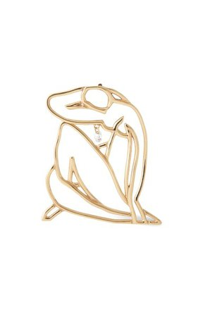 18k Yellow Gold Body Diamond Earrings By Persée | Moda Operandi