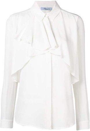 ruffle long-sleeve blouse