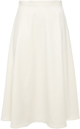 Eleni Flared Brushed-twill Midi Skirt