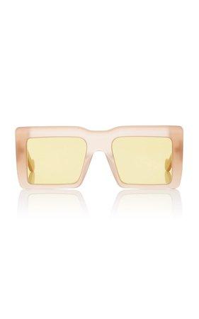 Square-Frame Tortoiseshell Acetate Sunglasses by Loewe | Moda Operandi