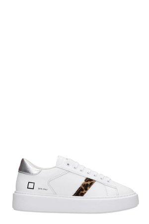 D.A.T.E. Sfera Sneakers In White Leather