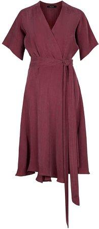 FLOW - Red Berry Sensation Wrap Mini Dress