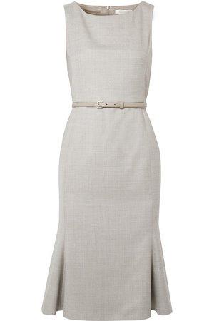 Max Mara | Belted wool-blend dress | NET-A-PORTER.COM