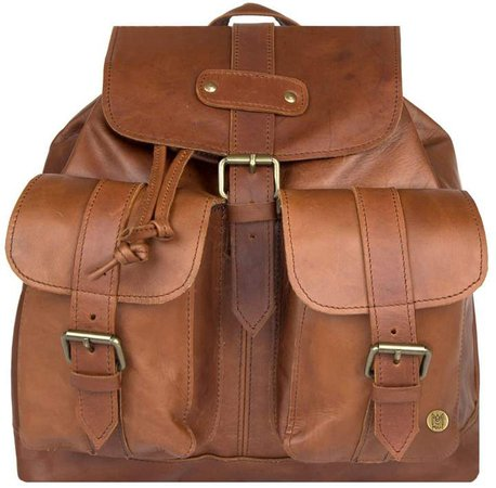 MAHI Leather - Leather Nomad Backpack In Vintage Brown