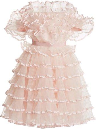 Giambattista Valli Ruffled Tulle Mini Dress