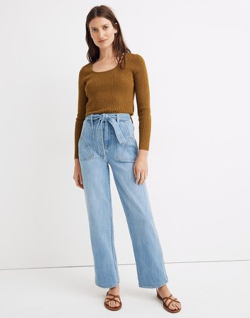 x Warm High-Rise Wide-Leg Jeans