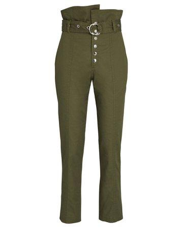 Marissa Webb Gia Belted Paperbag Pants | INTERMIX®