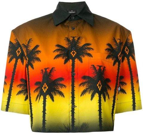 cropped palm tree shirt