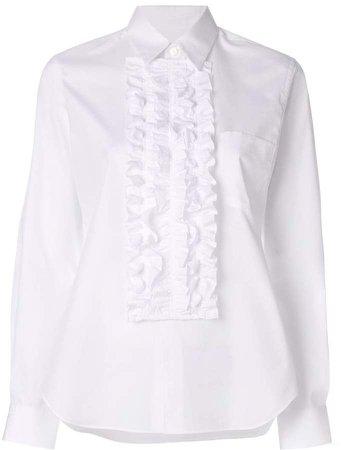 frilled bib shirt