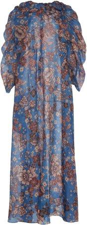 Giffa Floral Silk Maxi Dress