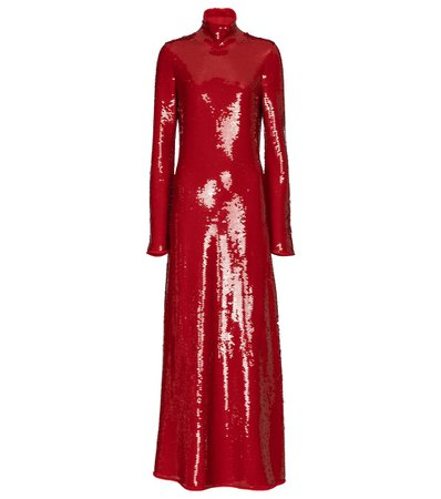Bottega Veneta - Sequined turtleneck gown | Mytheresa